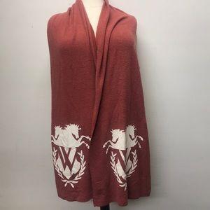 BNWPCT Fleece Wildfox long Logo scarf Orange OS